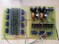 LED kostka 8x8x8 - Deska ovládání sloupců a Deska ovládání řádků a zdroj
