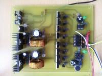 LED kostka 8x8x8 - Deska ovládání řádků a zdroj